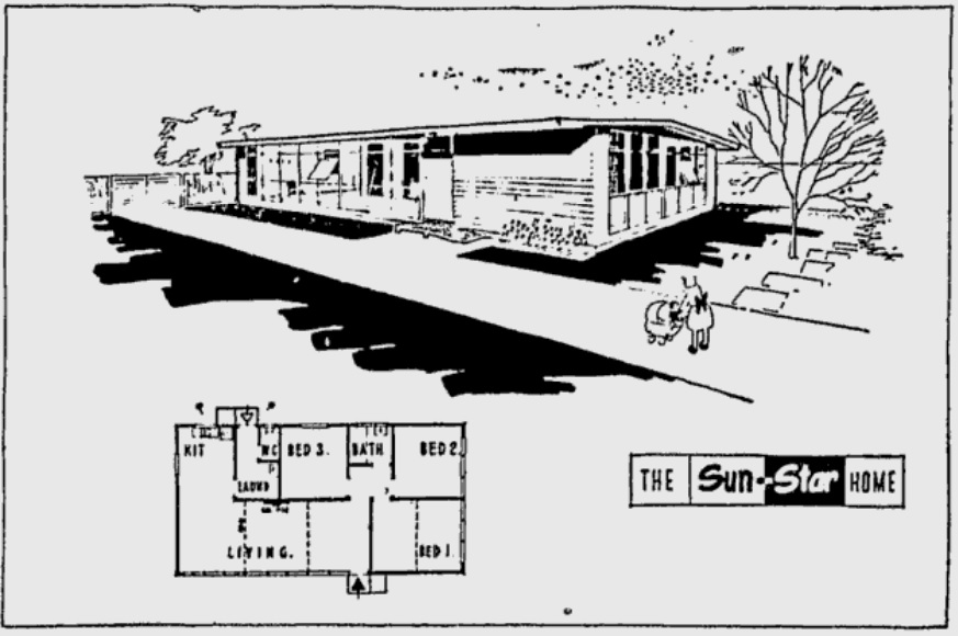 Sunstar House by Walter G Embleton 1956