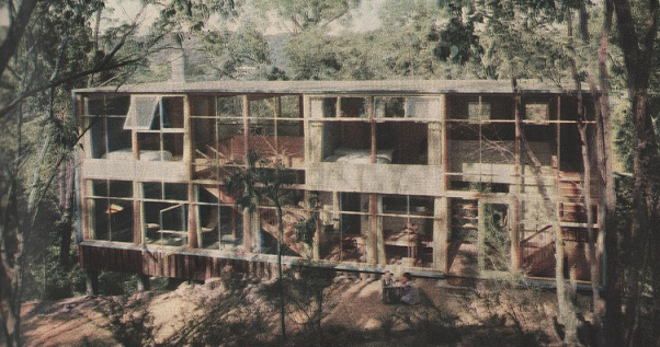 John Hipwell's own house in Warrandyte 1954