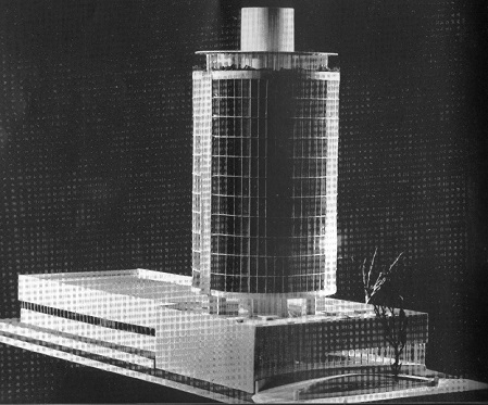 Scheme for highrise hotel at Melbourne (1956)